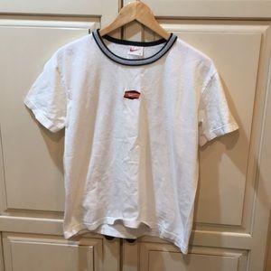 Vintage 90s nike white tag mini center soosh tee m